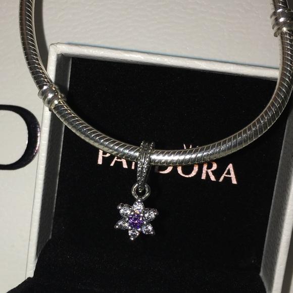 28c005702 Pandora Jewelry   Last Chance Forget Me Not Dangle Charm   Poshmark